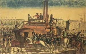 Execution of Louis XVI on January 21st 1793.