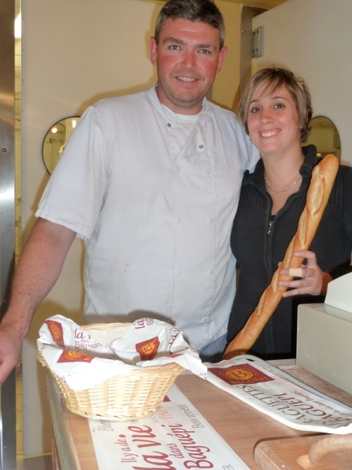 Jimmy and Laetitia. Partners in life and bread