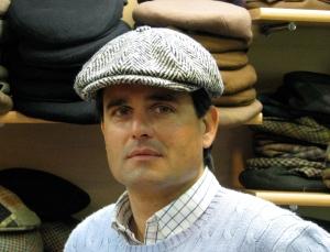 Stephane Jacquet sporting a cloth cap