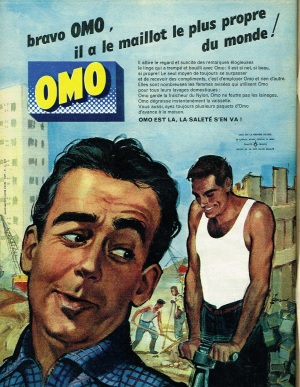 1962 advert for Omo washing powder.