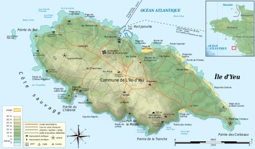 Ile d'Yeu map