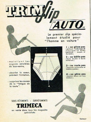 Underpants for drivers 1960