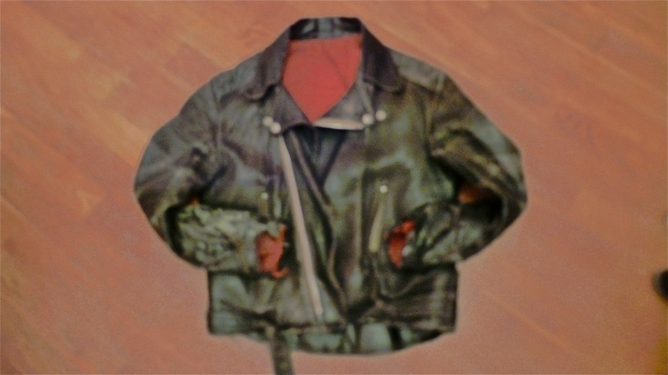 Grotty Leather Biker's Jacket