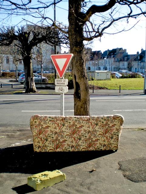 Give way on the sofa
